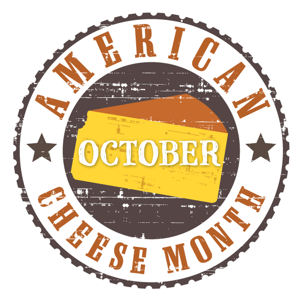 logo for american cheese month